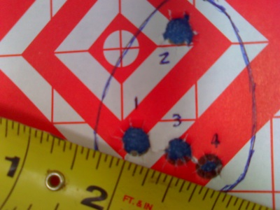 4 shot group at 200 yards
